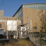 TECバイオマス小型炉。竹燃焼炉は稼働に向け、乾燥焚きと還水ブロー中です。