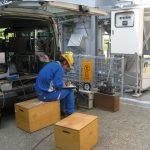 TECバイオマス小型炉の排ガス測定状況