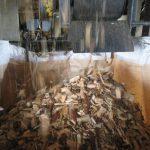 木質チップ寸法区分(民間規格P26)に挑戦。まずは合格! 安定品質で生産できるか実証実験です。
